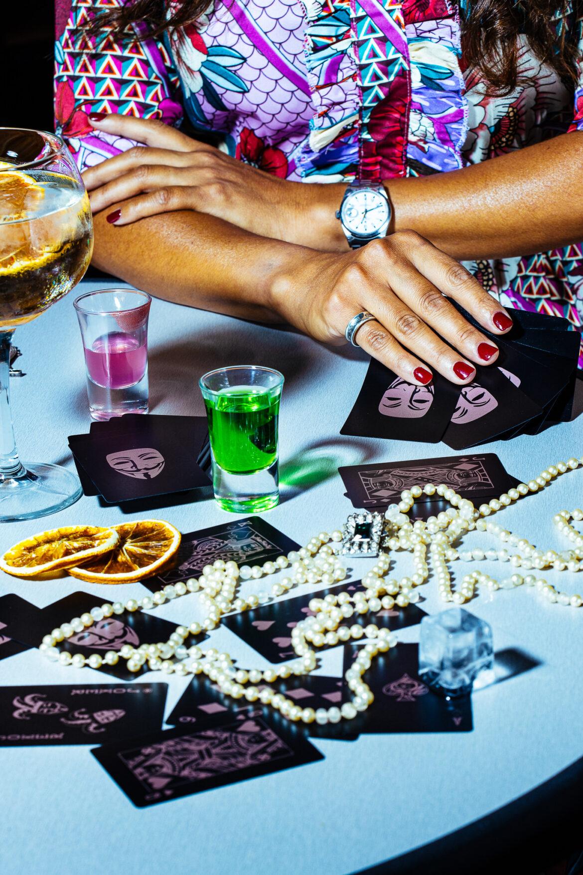 Rolex horloge met spelkaarten
